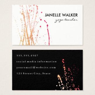 Cartão De Visitas Expressivo vibrante da cor de água
