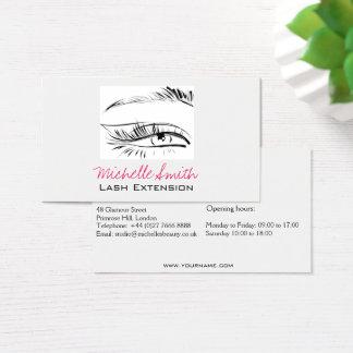 Cartão De Visitas Extensão do chicote do rímel do esboço do olho