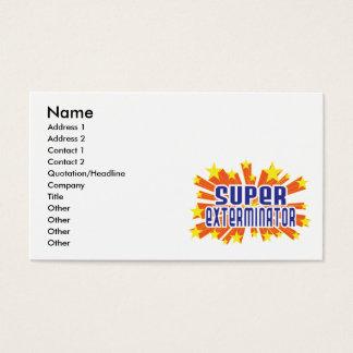 Cartão De Visitas Exterminator super