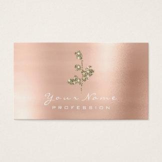 Cartão De Visitas Falso cor-de-rosa de Champagne do ouro da flor do