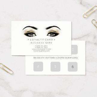 Cartão De Visitas Falso do salão de beleza do cliente do perfurador