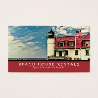 Cartão De Visitas Farol de Betsie do ponto