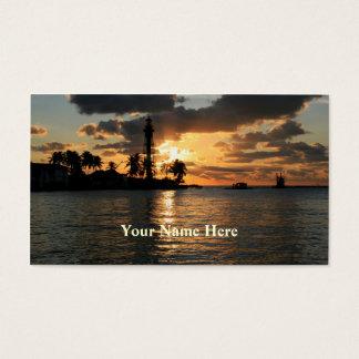 Cartão De Visitas Farol no nascer do sol