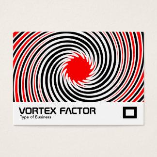 Cartão De Visitas Fator do Vortex - vermelho