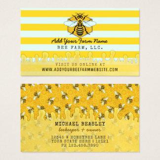 Cartão De Visitas Favo de mel das abelhas da fazenda | da abelha do