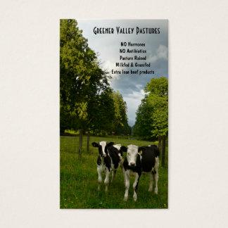 Cartão De Visitas Fazenda do bife da vitela de Holstein