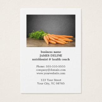 Cartão De Visitas Fazenda orgânica da saúde original das cenouras