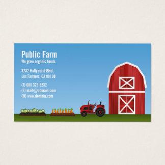 Cartão De Visitas Fazendeiro do vegetal da fazenda