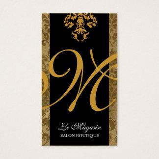 Cartão De Visitas Febre do ouro do monograma de 311 Marley