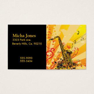 Cartão De Visitas Feixes jazzísticos do saxofone da música