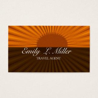 Cartão De Visitas Férias corajosas do agente de viagens da ascensão