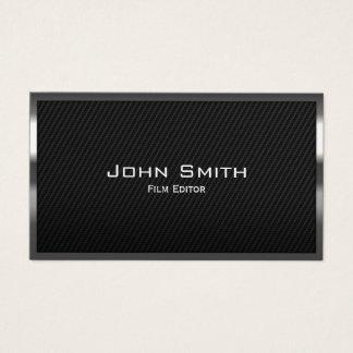 Cartão De Visitas Fibra quadro metal do carbono do editor do filme