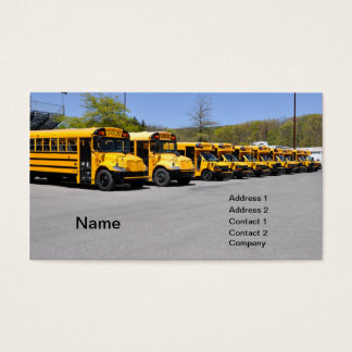 Cartão De Visitas fileira de auto escolares amarelos