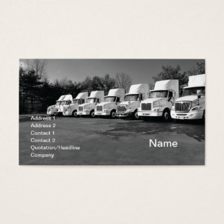 Cartão De Visitas fileira ou frota de grandes caminhões