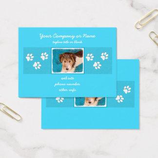 Cartão De Visitas Filhote de cachorro do Fox Terrier do fio