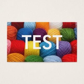 Cartão De Visitas fio do teste