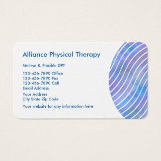 Cartão De Visitas Fisioterapeuta moderno lustroso