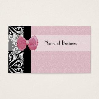 Cartão De Visitas Fita parisiense elegante do rosa do damasco