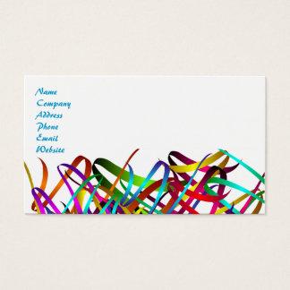 Cartão De Visitas Fitas exuberantes brilhantes do cetim de Swirly