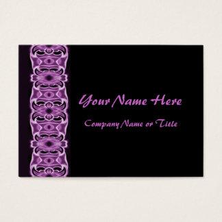 Cartão De Visitas fitas pretas roxas