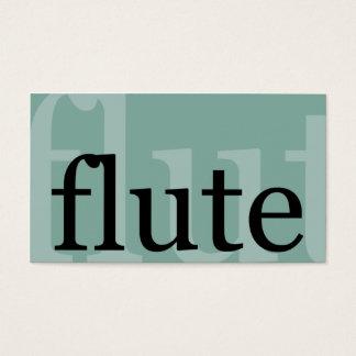 Cartão De Visitas Flauta