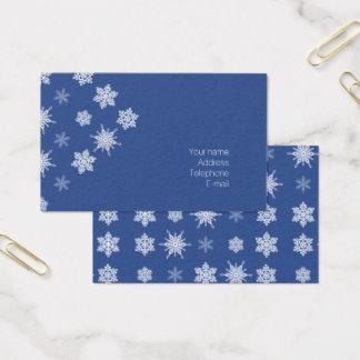 Cartão De Visitas Flocos de neve