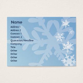 Cartão De Visitas Flocos de neve - carnudos