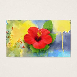 Cartão De Visitas Flor abstrata do hibiscus moderna