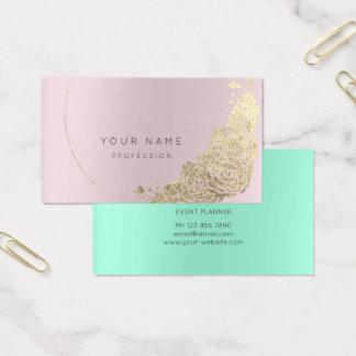 Cartão De Visitas Flor Amethst botânico Mauv cor-de-rosa do ouro