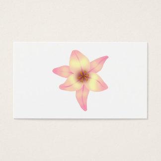 Cartão De Visitas Flor bonito do lírio