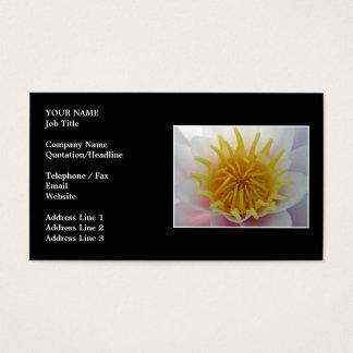 Cartão De Visitas Flor branca e amarela