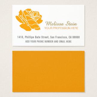 Cartão De Visitas flor cor-de-rosa da laranja