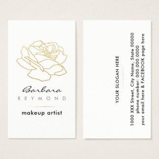 Cartão De Visitas flor cor-de-rosa esboçada, branco floral da beleza