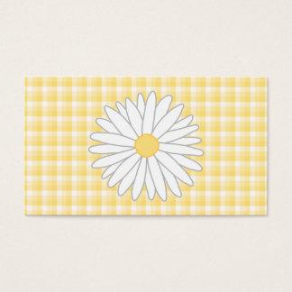 Cartão De Visitas Flor da margarida em amarelo e no branco