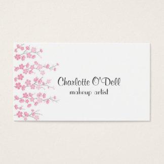 Cartão De Visitas flor de cerejeira