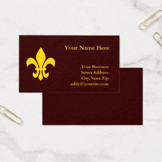 Cartão De Visitas Flor de lis do ouro