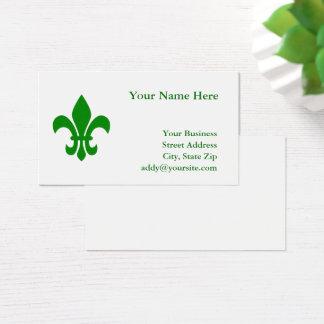 Cartão De Visitas Flor de lis verde