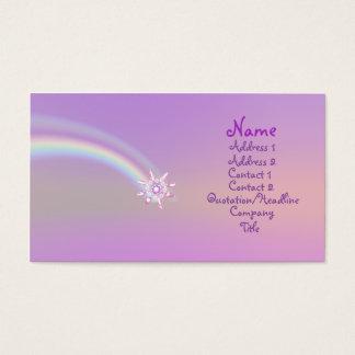Cartão De Visitas Flor de vidro - negócio