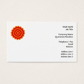 Cartão De Visitas Flor Funky em alaranjado e em vermelho