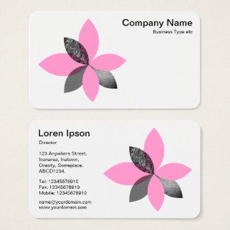 Cartão De Visitas Flor geométrica da planta - rosa