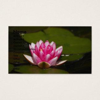 Cartão De Visitas Flor, nome, endereço 1, endereço 2, contato 1…
