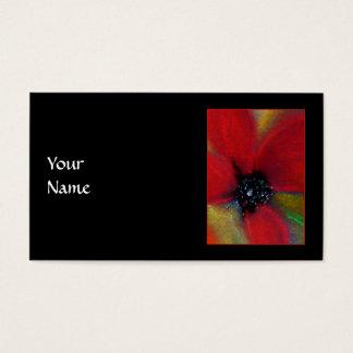 Cartão De Visitas Flor vermelha, Poppy.