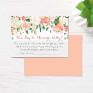 Cartão De Visitas Floral como grande é o jogo da barriga da mamã