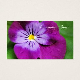 Cartão De Visitas Floral roxo do Wildflower da flor do amor perfeito
