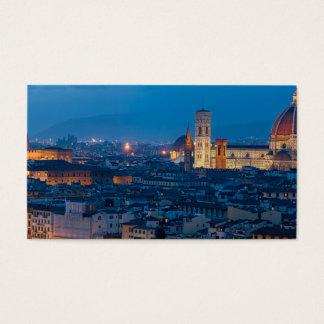 Cartão De Visitas Florença Italia