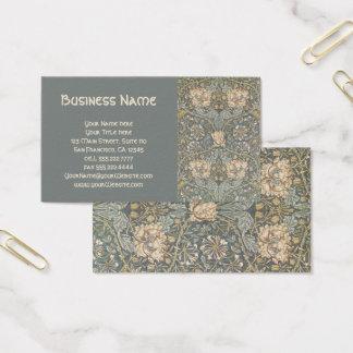 Cartão De Visitas Flores antigas de William Morris do Victorian