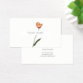 Cartão De Visitas Flores botânicas dos rosas verdes de semente de