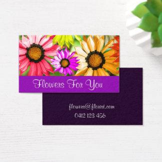 Cartão De Visitas Flores da loja de florista para você