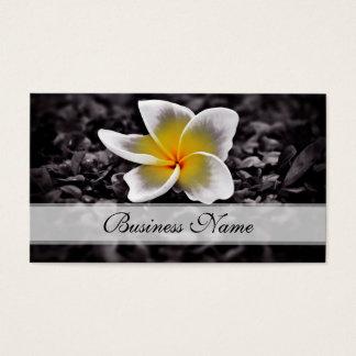 Cartão De Visitas Flores de Havaí do Frangipani do Plumeria