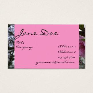 Cartão De Visitas Flores do pêssego - negócio